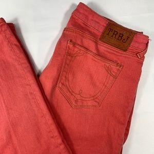 True Religion coral skinny jeans sz 29